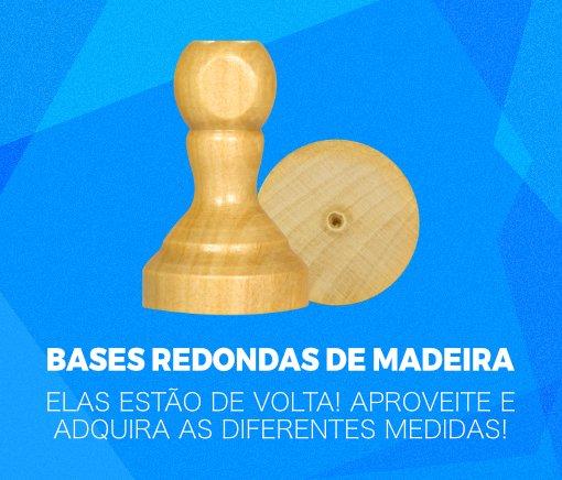 Bases redondas de madeira!