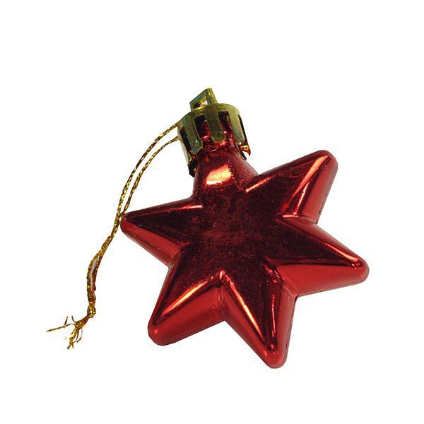 Foto 1 Enfeite de Natal Estrela 6 peças