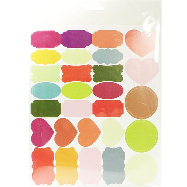 Foto 1 Cartela de Etiquetas Adesivas para  Patchwork