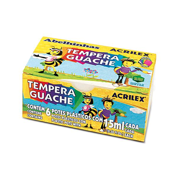 Foto 1 Tinta Tempera Guache  com 6 unidades