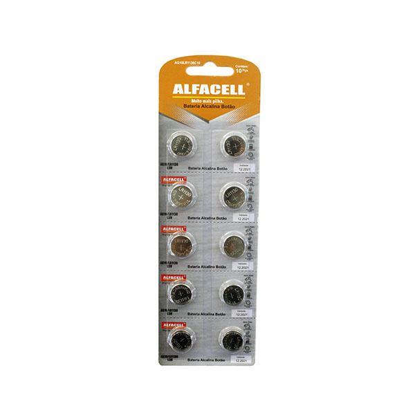 Foto 1 Bateria Alcalina Botão 1,5 v - AG10LR1130C10  - Cartela com 10