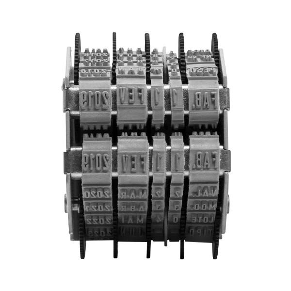 Foto 2 Datador Duplo Sobreposto com Dizeres 3mm Ref. 863