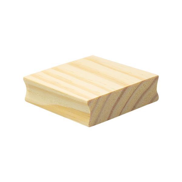 Foto 1 Base de madeira Scrap 70x70mm - 1unid